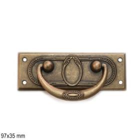 Jugendstil Möbelgriff Schlüsselschild 2453