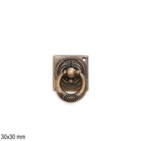 Jugendstil Möbelgriff Schlüsselschild 2442