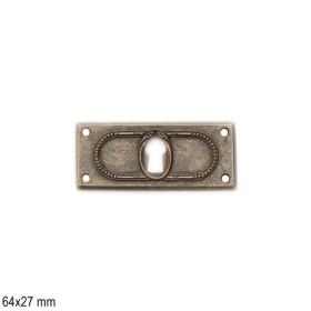Jugendstil Möbelgriff Schlüsselschild 2462