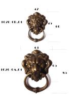 Löwenkopfe aus Messing