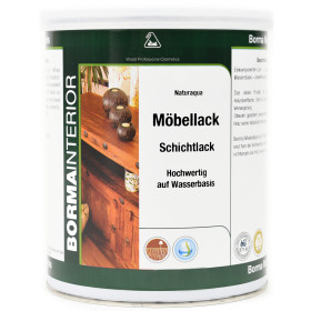 Acryl Holzlack Transparent 1 Liter Seidenglänzend