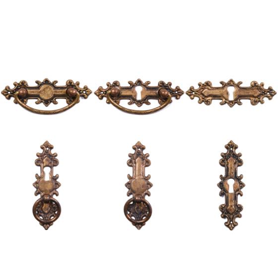 Gründerzeit Möbelgriffe und Schlüsselschilder